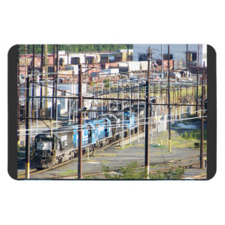 Enola Norfolk Southern Railroad Yard Harrisburg PA Rectangular Photo Magnet