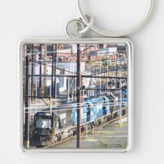 Enola Norfolk Southern Railroad Yard Harrisburg PA Silver-Colored Square Key Ring
