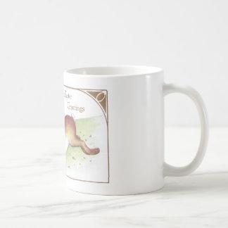 Enormous Easter Bunny Ridden by Tot Basic White Mug