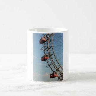 Enormous Red Ferris Wheel Basic White Mug