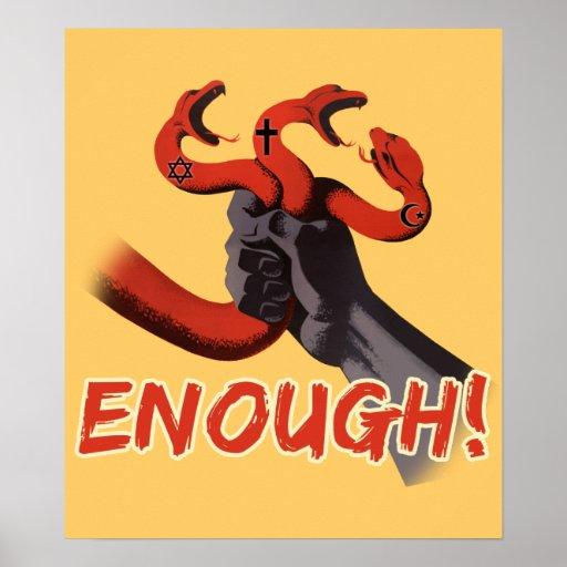 ENOUGH!!! atheist poster