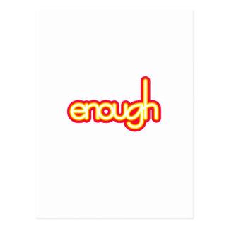 Enough (bright) post card