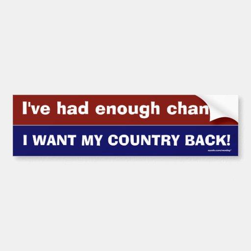 Enough Change Bumper Sticker