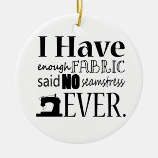 Enough Fabric Sewing Custom Color Light Double-Sided Ceramic Round Christmas Ornament