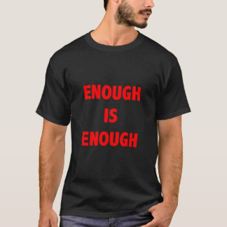 Enough is enough t-shirt in red