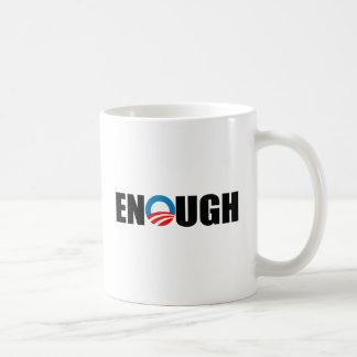 ENOUGH CLASSIC WHITE COFFEE MUG