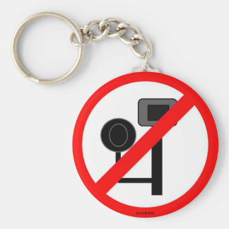 ENOUGH! No more red light or speed cameras! Key Chain