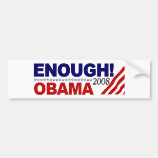 ENOUGH! (Obama 2008) Bumper Sticker