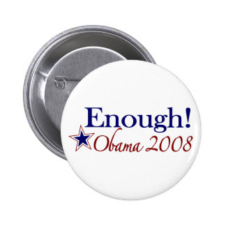 Enough Obama 2008 (Lipstick on a pig) 6 Cm Round Badge