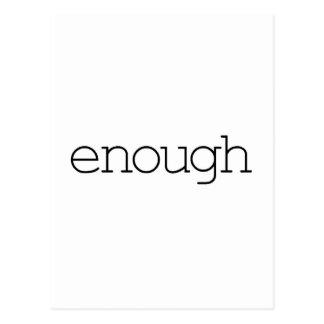 Enough (simple) postcard