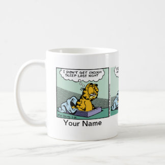 """Enough Sleep"" Garfield Comic Strip Basic White Mug"