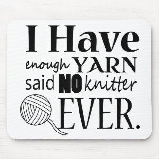 Enough Yarn Knitter Custom Color Light Mouse Pad