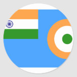 Ensign the Indian Air Force, India Round Sticker