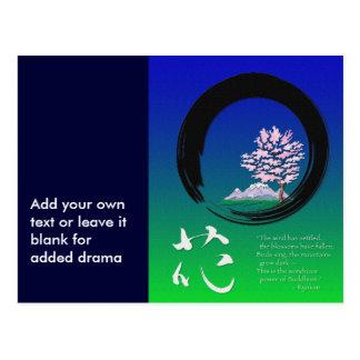 Enso circle and Zen wisdom by Ryokan Postcard