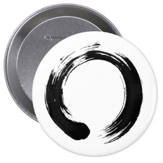 Enso Circle Huge, 4 Inch Round Button