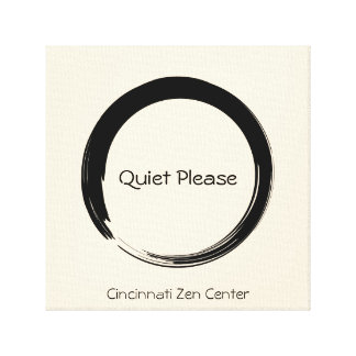 Enso Circle, quiet please Gallery Wrapped Canvas