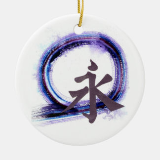 Enso - Eternity with Zen Christmas Ornament