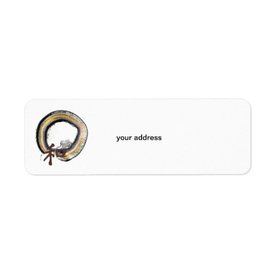 Enso, Harmony in Earth Tones Return Address Label