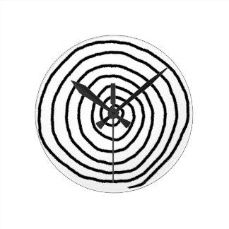 Enso Spiral Wall Clock