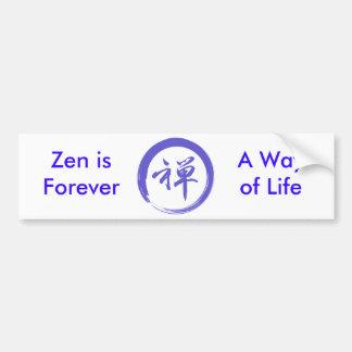 Enso Symbol with Zen Symbol Bumper Sticker