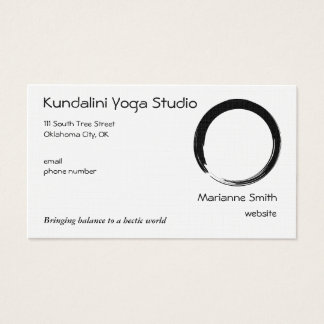 Enso Symbol with Zen Symbol v2 Business Card