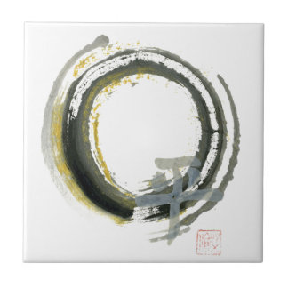 Enso with PAX, Sumi-e Tile