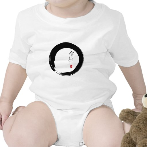"""Enso with """"With Love"""" kanji text Tshirt"""