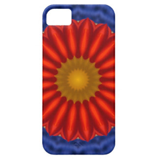 Ente auf Blau mit Rot Kaleidoscope iPhone 5 Cases