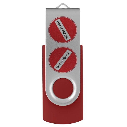 enter at own risk USB stick Swivel USB 3.0 Flash Drive