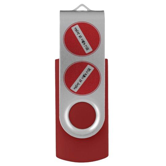 enter at own risk USB stick USB Flash Drive