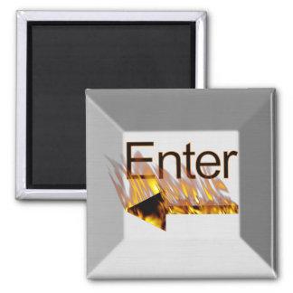 Enter Computer Keyboard Key on Fire Magnet