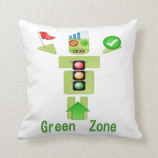 Enter GREEN ZONE -  Fun Graphic Cushions