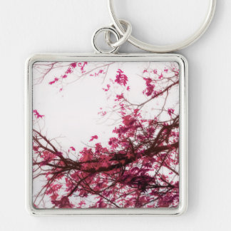 Enter Here (Infrared Version) Silver-Colored Square Key Ring