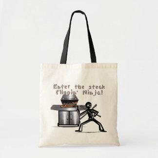 Enter the Steak Flippin' Ninja Budget Tote Bag