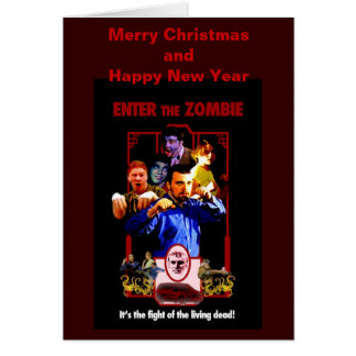 Enter The Zombie Christmas Card