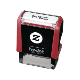 """Entered"" Self Inking Stamp"