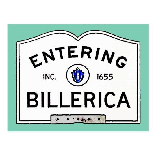 Entering Billerica Postcard