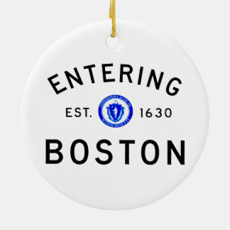 Entering Boston Christmas Ornament