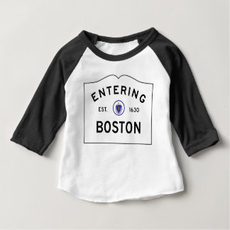 Entering Boston Road Sign Baby T-Shirt