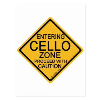 Entering Cello Zone Postcard