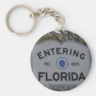 Entering Florida Sign Keychains