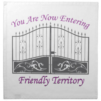 Entering Friendly Territory Printed Napkins