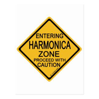 Entering Harmonica Zone Postcard