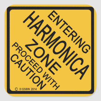 Entering Harmonica Zone Square Sticker