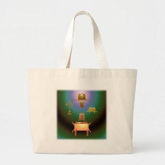 Entering His Presence Square Canvas Bag