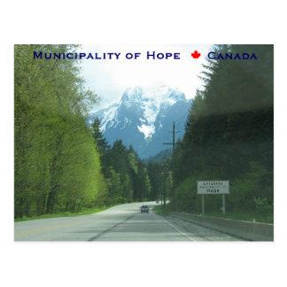 Entering Municipality of Hope Canada Postcard