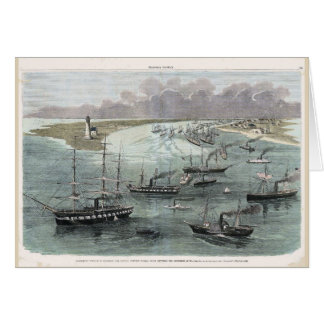Entering New Orleans, Commodore Farragut's Ships Card