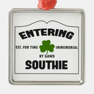 Entering Southie Christmas Ornament
