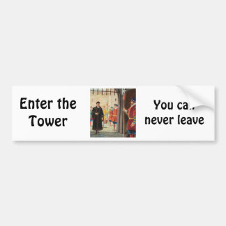 Entering the Tower of London Bumper Sticker