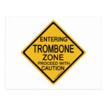 Entering Trombone Zone Postcard
